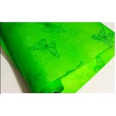 "Фетр 03-45 с блестками ""Бабочки"" на зелёном 50см*10м"