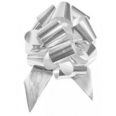 Бант-шар огромный металл серебро