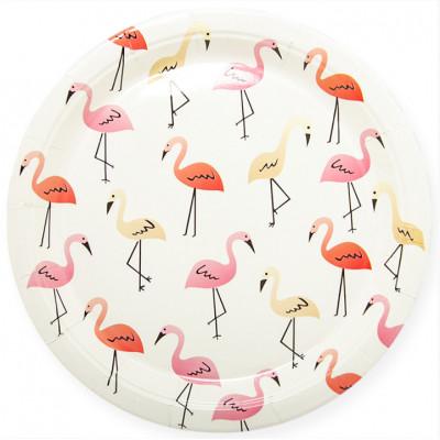"""Тарелки 23см """"Фламинго"""" белый 6шт"""