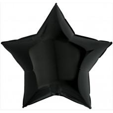 Шар (36''/91 см) Звезда, Черный, 1 шт. Grabo