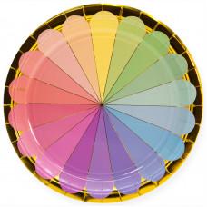 Тарелки (9''/23 см) Радужный спектр, Золото, 6 шт.