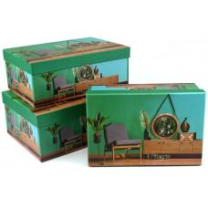 Коробка  Интерьер с зеркалом, Зеленый, 26*18*10,2, 1шт.