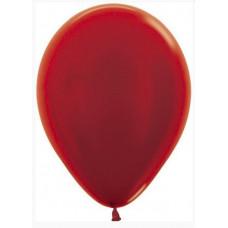 Шар (12''/30 см) Красный (515), металлик, 50 шт. Sempertex