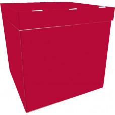 Коробка для воздушных шаров Бордовый, 70*70*70 см, 1 шт.