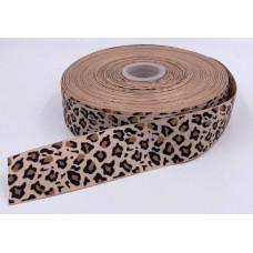 Лента репсовая 4см Леопард 1м