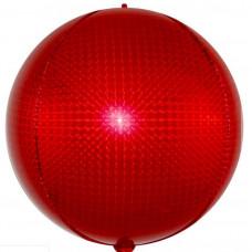 Шар (24''/61 см) Сфера 3D, Стерео, Красный, Голография, 1 шт. Falali