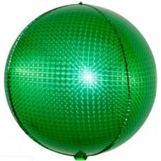 Шар (24''/61 см) Сфера 3D, Стерео, Зеленый, Голография, 1 шт. Falali