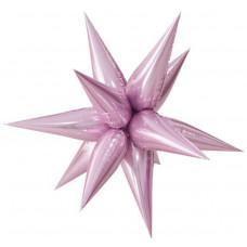 Шар (26''/66 см) Фигура, Звезда составная, Розовый, 1 шт. Falali