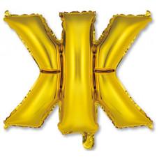"""Шар фольгированный (14'') Буква """"Ж"""" в упаковке, золото, 1 шт. Весёлая затея"""