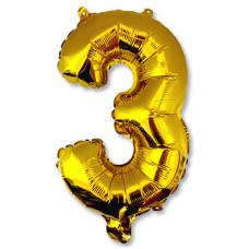 """Шар фольгированный (14'') Буква """"З"""" в упаковке, золото, 1 шт. Весёлая затея"""