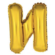 """Шар фольгированный (14'') Буква """"И"""" в упаковке, золото, 1 шт. Весёлая затея"""