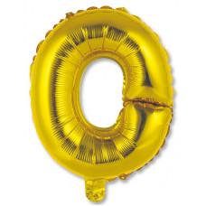 """Шар фольгированный (14'') Буква """"О"""" в упаковке, золото, 1 шт. Весёлая затея"""