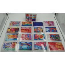 """Набор детских дизайнерских открыток 9*13см """"С Любовью из Владивостока"""" 16шт микс"""