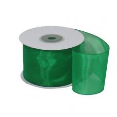Лента органза 5см*22.85м зелёный