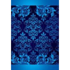 Адресная папка Синяя с узором без надписи