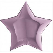 Шар (36''/91 см) Звезда, Сиреневый, 1 шт. Grabo