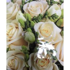 """Пакет подарочный.лам. вертик. 47*40*14см """"Кремовые розы"""" 12шт."""