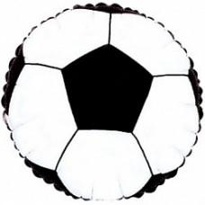 """Шар фольгированный 18""""/46см круг """"Футбольный мяч"""" чёрный CTI"""