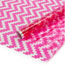 Упаковочная пленка (0,7*7,5 м) Шеврон, Розовый, 1 шт.