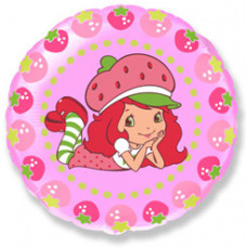 Шар (18''/46 см) Круг, Клубничка и ягоды, Розовый, 1 шт. Flexmetal