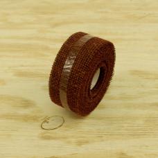 Лента мешковина 50-19 Шоколадный 5.0см*10м