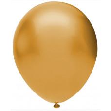 Шар (12''/30 см) Золото (922), металлик, 50 шт. Орбиталь