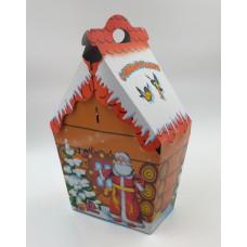 """Коробка д/конфет """"Дедушка Мороз и снеговик"""" (900гр)"""