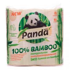 """Натуральная антибактериальная ЭКО бумага из бамбука, """"Панда"""", 1уп /8шт"""