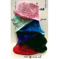 Карнавальная шляпа световая 15*28*25см в ассортименте