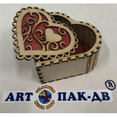 """Ящик декоративный деревянный шкатулка """"Сердце"""""""