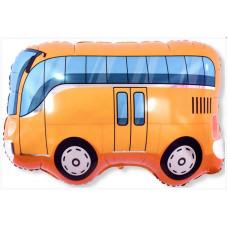 Шар (34''/86 см) Фигура, Автобус, Оранжевый, 1 шт. Falali