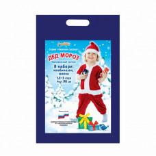 "Карн. костюм ""Дед Мороз в колпаке"" комбинезон.шапка 1,5-3г 98см"