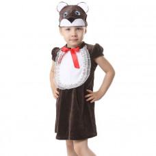 """Карн. костюм """"Медвежонок"""" шапка.платье 1,5-3г 98см"""