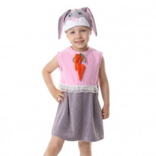 "Карн. костюм ""Зайка розовая"" сарафан.шапка 1,5-3г 98см"