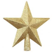 Елочное украшение макушка Звезда золотая 22 см