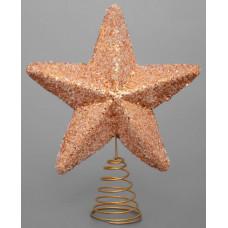 Макушка на елку Звезда золото 15 см