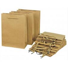 Пакет подарочный, Крафт, 8*11*5 см, 12 шт.