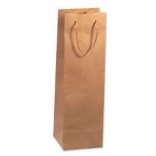 Пакет подарочный, под бутылку, Крафт, 10*33*9 см, 1 шт.