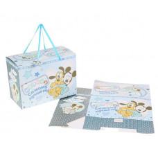 """Коробка подар. складная 40*20*29 """"Самому лучшему малышу"""" Микки Маус+мини-открытка"""
