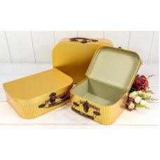 Набор коробок Чемодан, Золотой, 30*21*9,5 см, 3 шт.