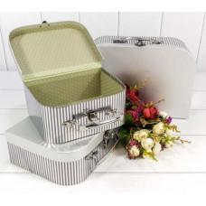 Набор коробок Чемодан, Серебро, 30*21*9,5 см, 3 шт.