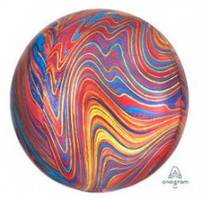 Шар (16''/41 см) Сфера 3D, Мрамор Colorful, 1шт. Anagram