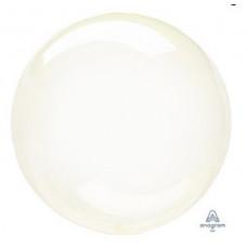 Шар (18''/46 см) Bubble, Кристалл Yellow, 1шт. Anagram