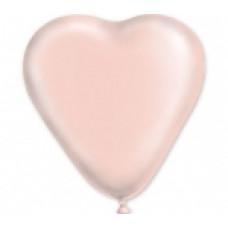 Шар 12д Сердце пастель цвет слоновой кости 100шт