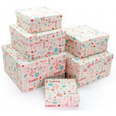 Коробка Любовь, 17х17х7 см, 1 шт.