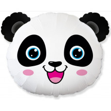 Шар (25''/64 см) Фигура, Голова, Маленькая Панда, 1 шт. Flexmetal