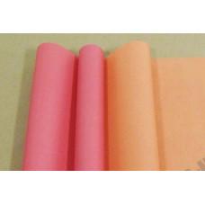 Бумага матовая двухсторонняя 70см*10м±10см красно-персиковый