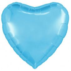 Шар (18''/46 см) Сердце, Холодно-голубой, 1 шт. Agura