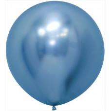 Шар (24''/61 см) Reflex, Зеркальный блеск, Синий (940), хром, 3 шт. Sempertex