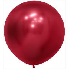 Шар (24''/61 см) Reflex, Зеркальный блеск, Красный (915), хром, 3 шт. Sempertex